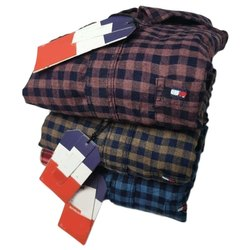 Party Wear Long Sleeve Mens Fancy Check Shirts, Size: M to XXL