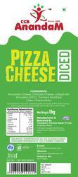 Anandam Cool & Dry Pizza Diced Cheese, Packaging Type: Box, Weight: 1 Kg