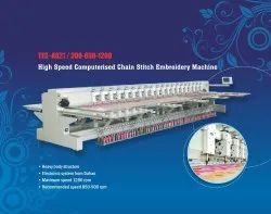 High Speed Computerised Chain Stitch Embroidery Machine