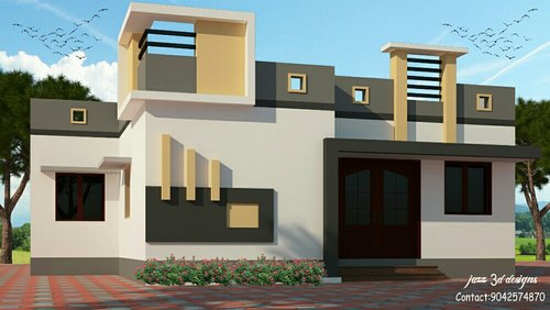 low cost residential house elevation in tallakulam madurai jazz 3d rh indiamart com elevation for houses in hyderabad elevation for house in tamilnadu