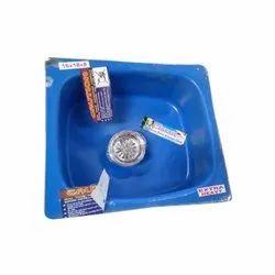 Single Shiny Classic Extra Heavy Steel Kitchen Sink, Size: 16x18x8