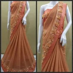 Flower Lace Designer Saree