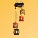 ExclusiveLane Barrel Shaped Chandelier With Metal Hanging Shades