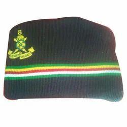 Army Woolen Cap, Size: M-XXL, SNK Fabrics | ID: 14480301648