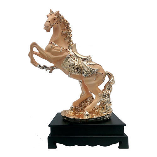 Chinese Antique Bronze hand-made gold-plated horse  Home decoration