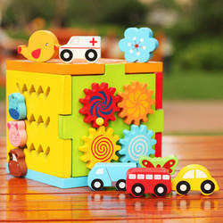 Craft Dev 3-6 Years Wooden Multi-functional Intelligence Box Kids Toy