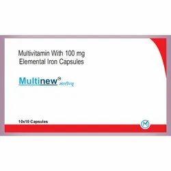 Multinew Multivitamin Iron Capsule, Medigen, 10x10 Capsules
