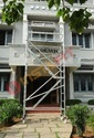 Silver Aluminum Single Width Mobile Scaffold With Stair
