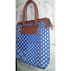 Fabric Bag With PU Leather