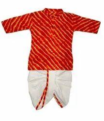 Festive Wear Trendy Lehariya Printed Dhoti Kurta Set