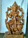 Sri Mahalakshmi Matha 3 Ft Quality Wooden Statue