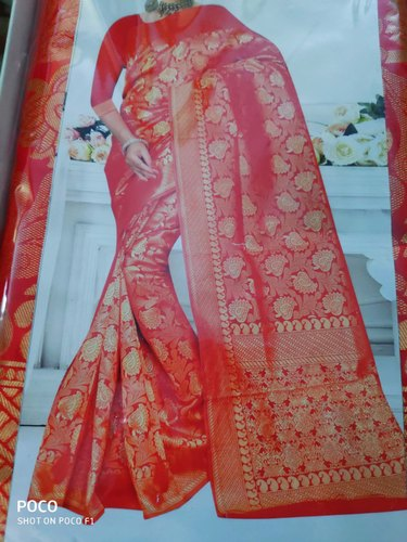 Border Opara Silk Saree, 6.3 M (with Blouse Piece)
