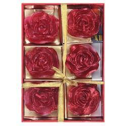 Red Floating Flower Candles DD409B