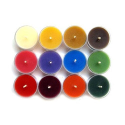 Colored Plain Scented Tea Light Candles