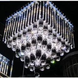 Incandescent Bulb Hanging Crystal Chandelier