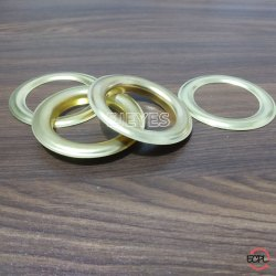 40mm Brass Curtain Eyelets & Washers Golden