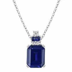 Lab Created Sapphire Pendant