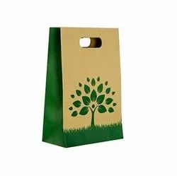 Brown D Cut Paper Bags for Shopping, Capacity: 1-5 kgs