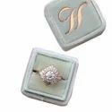 Om Display Golden Designer Ring Box