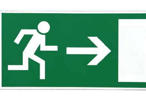 emergency fire exit signage at rs 950 unit fire sign finetech
