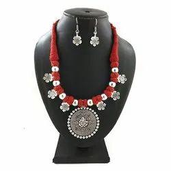 Handmade Oxidized Thread Necklace Set