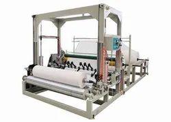 Ocean International Blue To White Double Drum Type Slitting Rewinding Machine, Capacity: 2 To 5 Ton