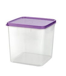 Square Airtight Plastic Food Container 2900 ml