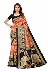 Kalamkari Art Silk Saree