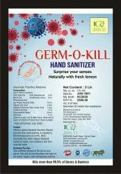 Hand Sanitizers Liquid 70% Alcohal 5 Ltr Can