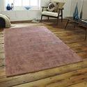 Rectangular Plain Indian Modern Viscose Floor Rug