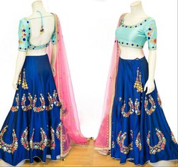 Royal Blue Festival Wear Chaniya Choli