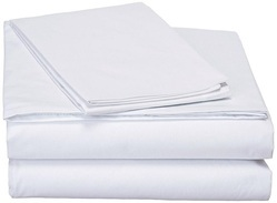 Poly Cotton White Bed Sheet