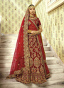 Designer Bridal Wear Silk  Lehenga Cholis With Double Dupatta