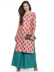 Printed Cotton Kurtis with Palazzo