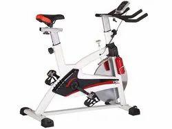 Heavy Duty White Spin Bike Semi Commercial - OTYSS-002, For Household