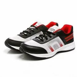 Mens White Black Red Synthetic Walking Shoes
