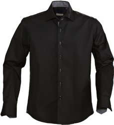 Cotton Black Corporate Casual Shirts, Size: S-xxl