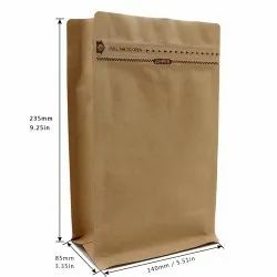 Paper Coffee Stand Up Zipper Pouches With Valve
