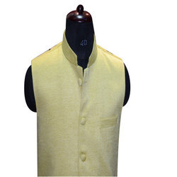Linen Small And Medium Mens Office Wear Waistcoat