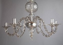 LED Cut Glass Chandelier