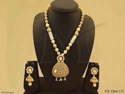 Polki Jewellery Designer Pendant Set