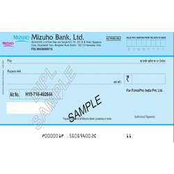 20067 MICR Cheque Paper in A4 Sheet