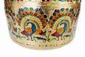 Peacock Designed, S.S Meenakari Medium Pot & Kalash -gm