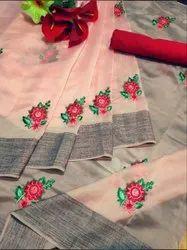 Silk Organza Saree, 5.5 m (Separate Blouse Piece)