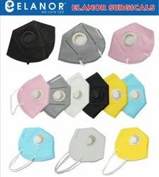 6 COLORS Reusable Elanor Anti Pollution Face Mask, Certification: Ce,Iso, Number of Layers: 6 Layers