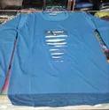 Blue Mens Formal T-Shirt