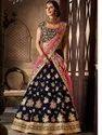 Designer Velvet Silk Bridal Lehenga Choli