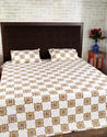 Cotton Green Block Print Bedsheets with Pillow Cover