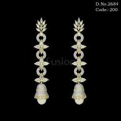 Fusion Designer American Diamond Chandelier Earrings