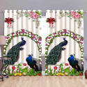 Peacock Digital Curtain